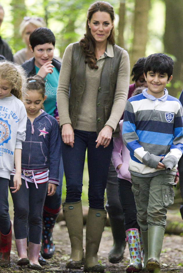 Kate Middleton in Le Chameau Vierzonord Wellies
